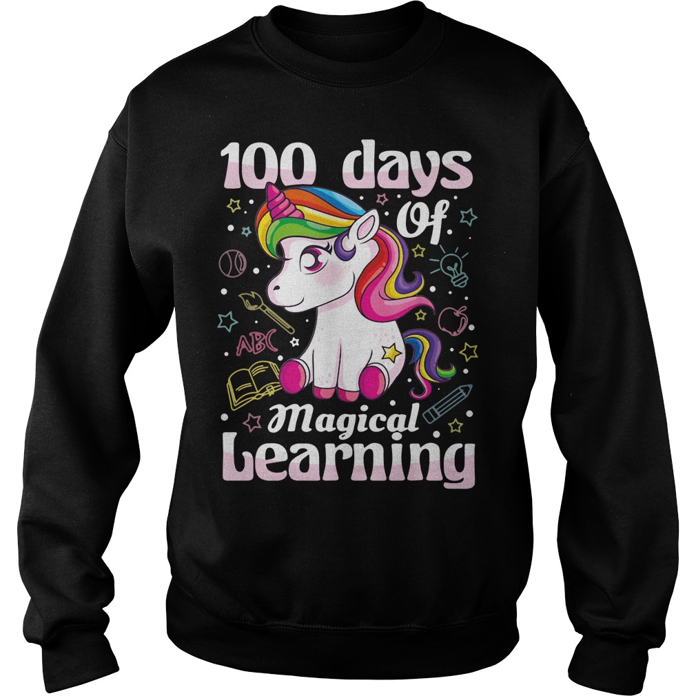 100 days of magical learning unicorn Sweater