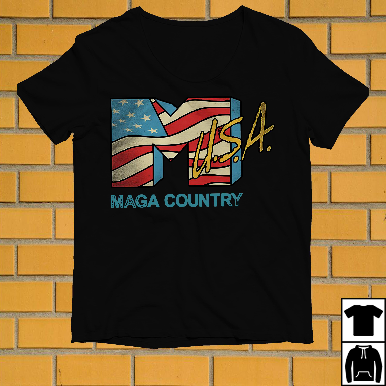 American flag USA Maga country shirt