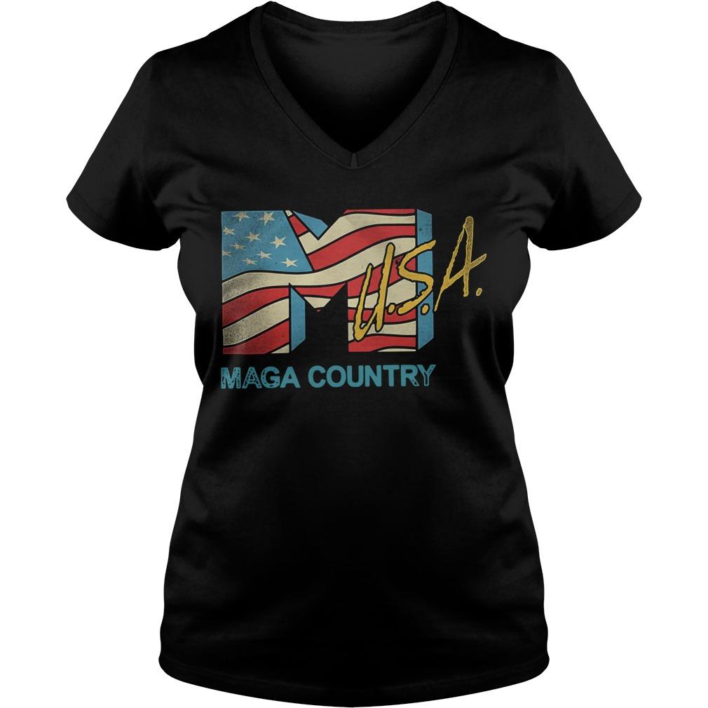 American flag USA Maga country V-neck T-shirt