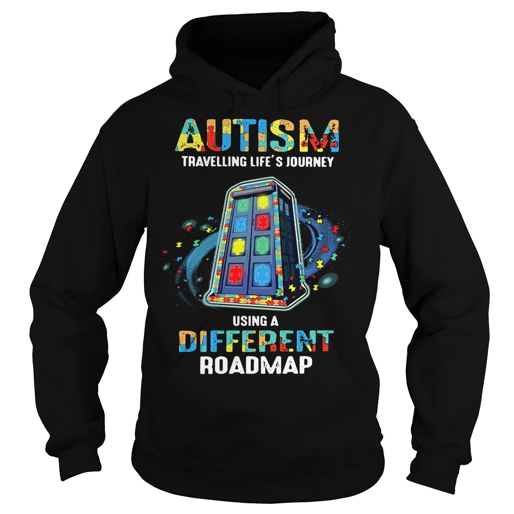 Autism travelling life's journey using a different Hoodie