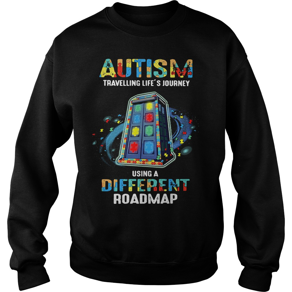 Autism travelling life's journey using a different Sweater
