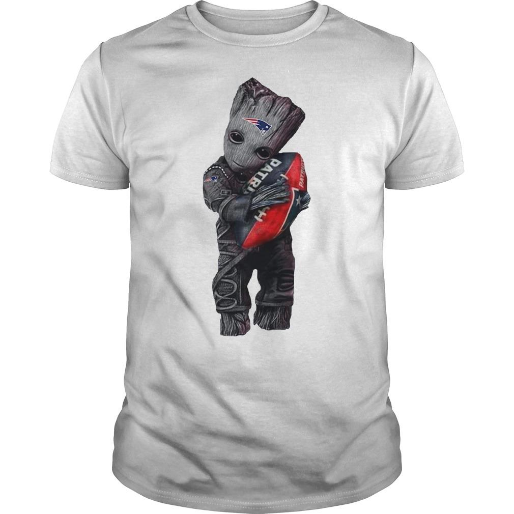 Baby Groot hug New England Patriots Guys Shirt