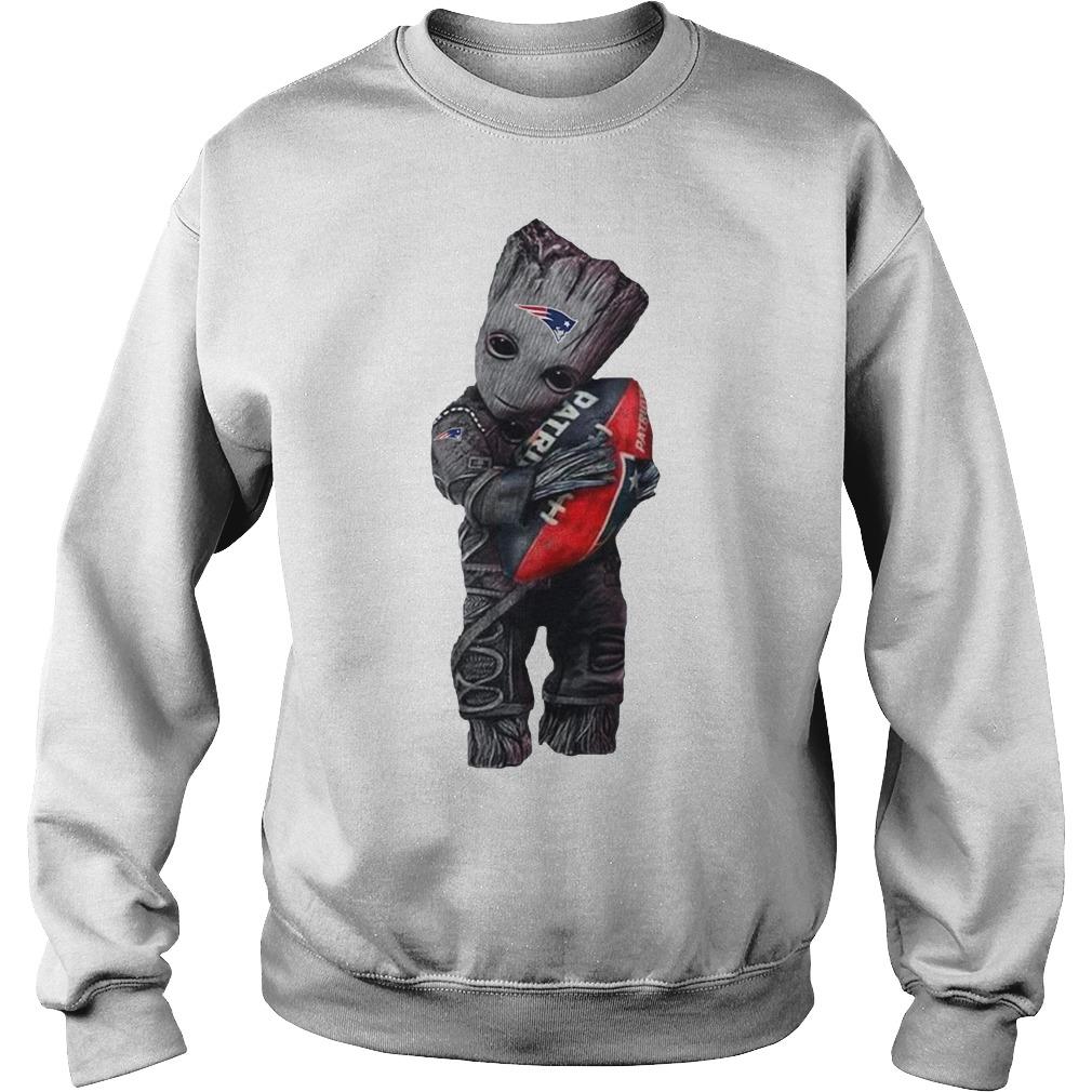 Baby Groot hug New England Patriots Sweater