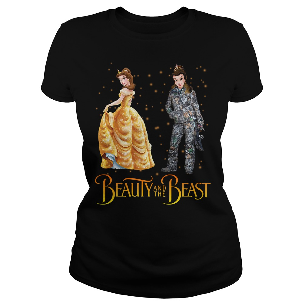 Beauty and the Beast hunting Ladies Tee
