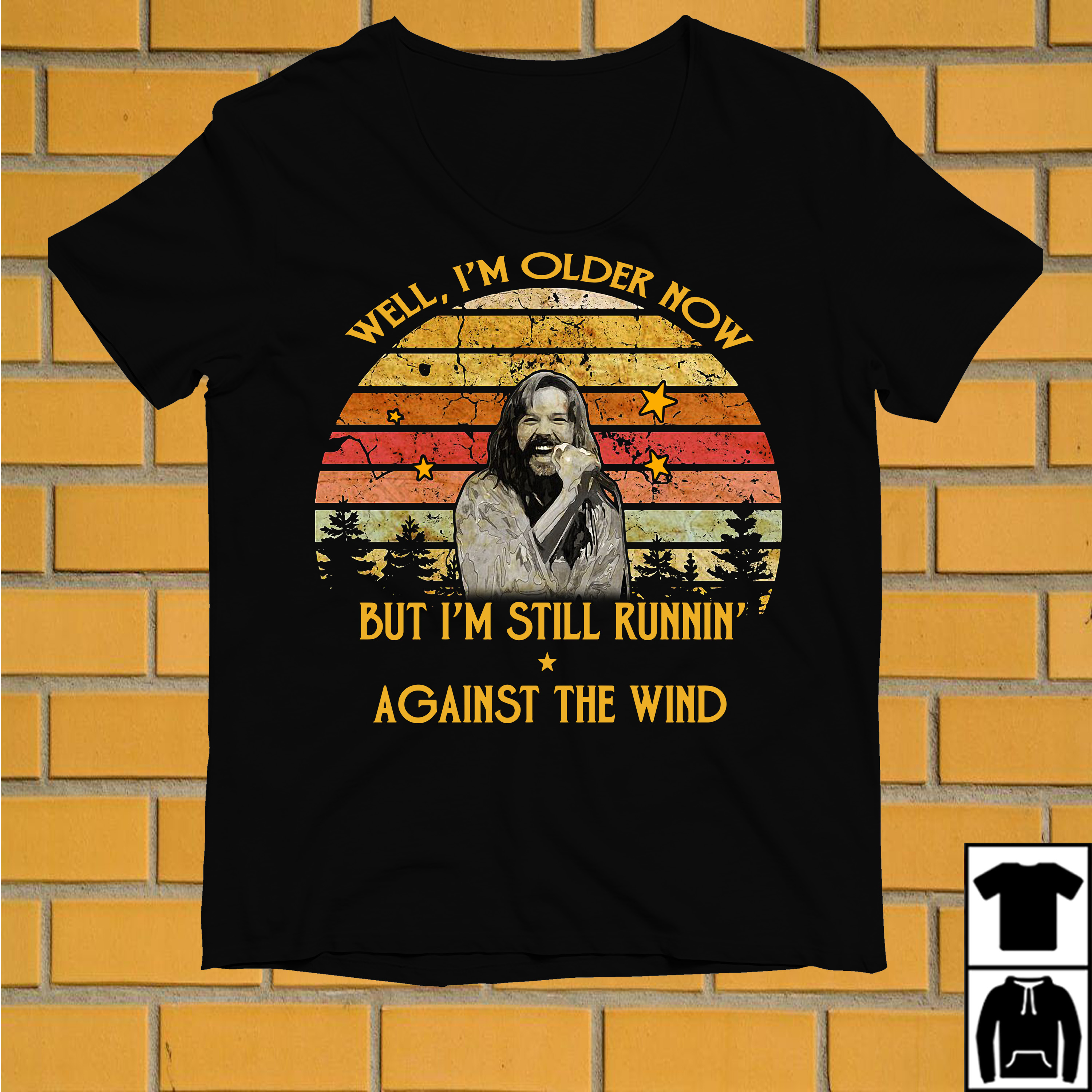 Bob Seger Well I'm older now but I'm still running against the wind vintage shirt