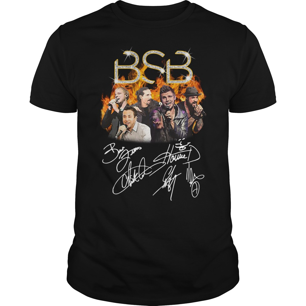 BSB Backstreet Boys members signatures Guys Shirt