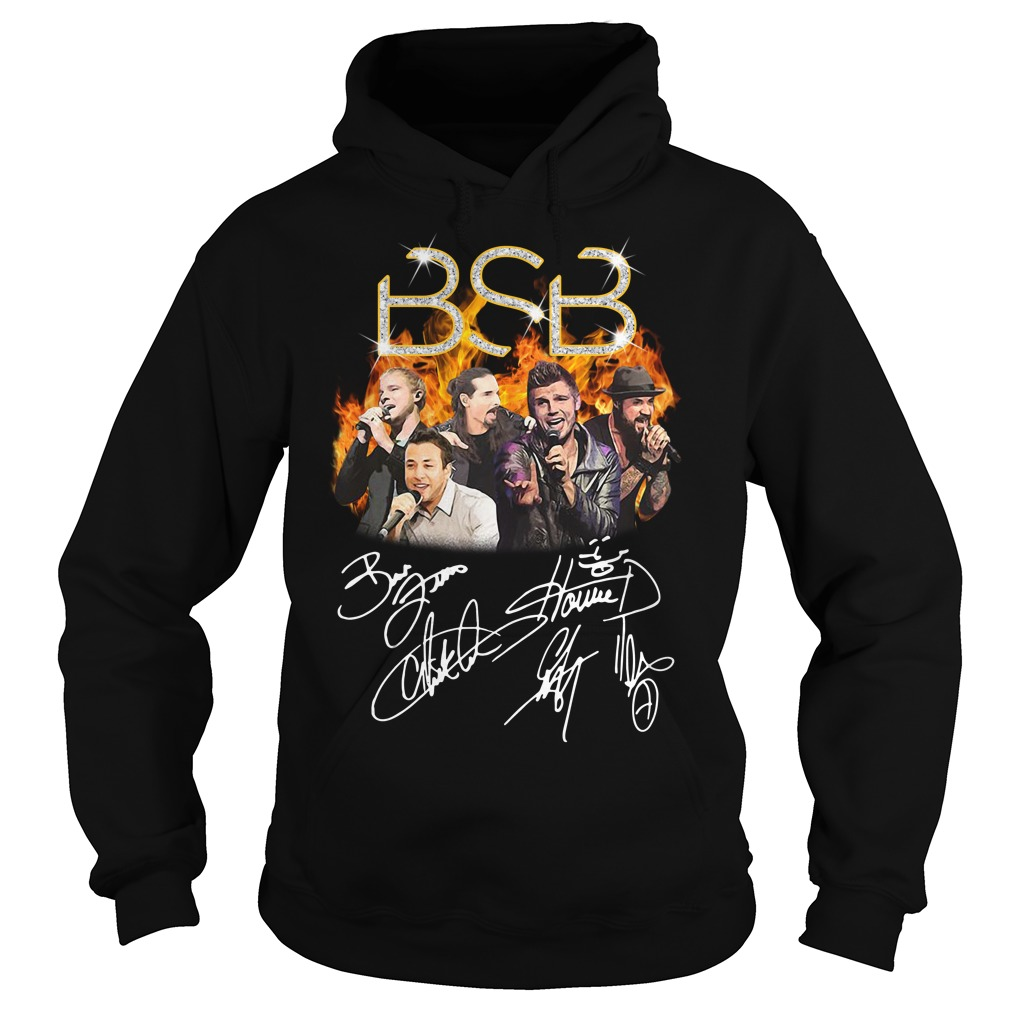BSB Backstreet Boys members signatures Hoodie