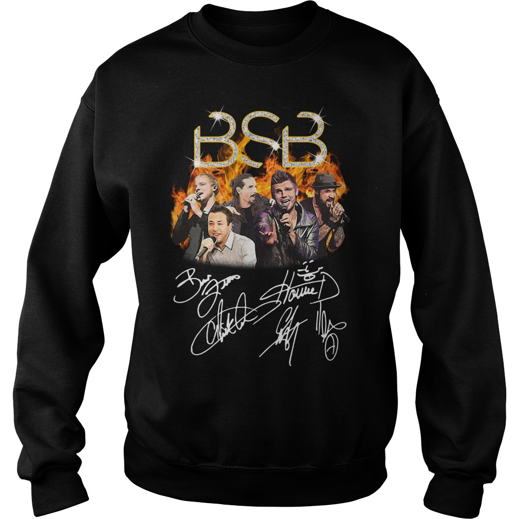 BSB Backstreet Boys members signatures Sweater
