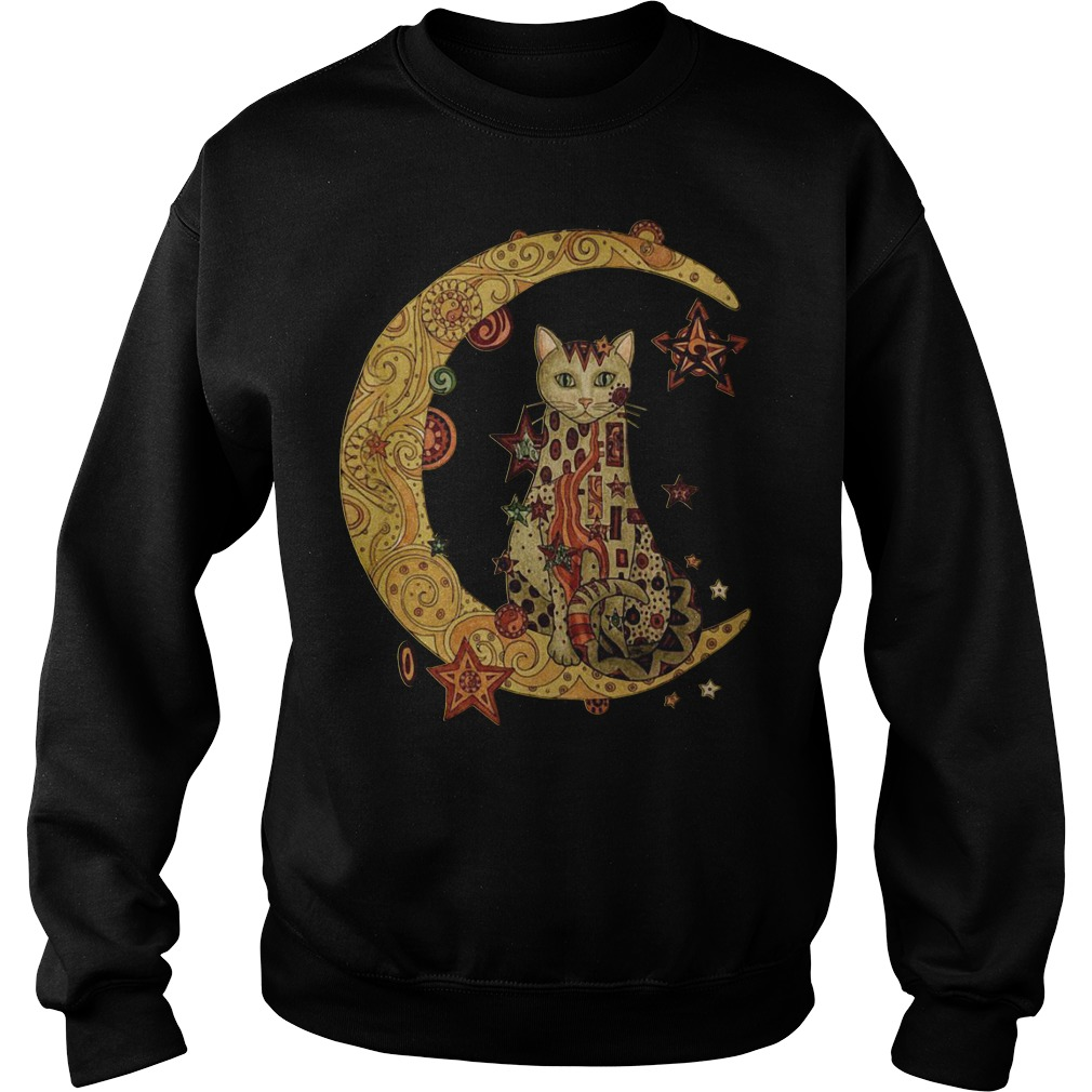 Cat on the moon Sweater