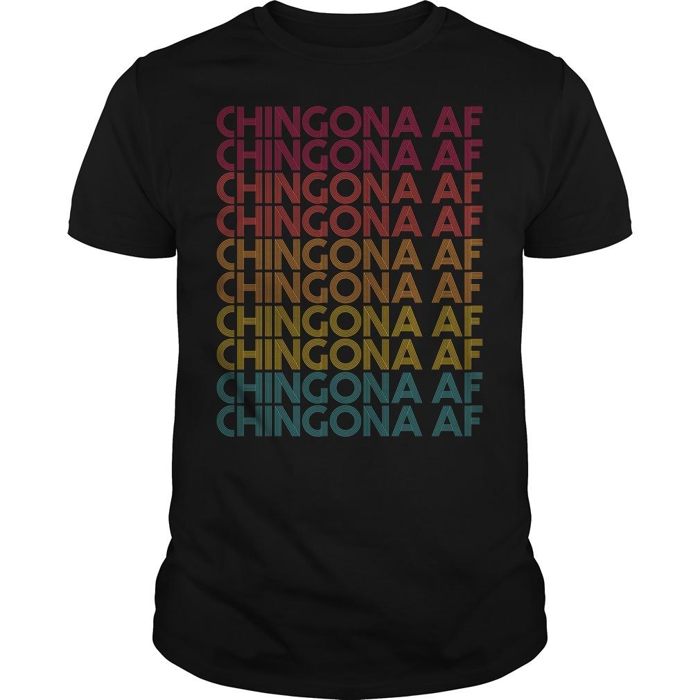Chingona AF Chingona AF Chingona AF vintage Guys Shirt