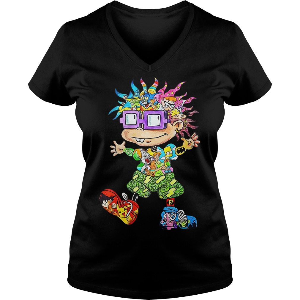 Chuckie Finster all character V-neck T-shirt