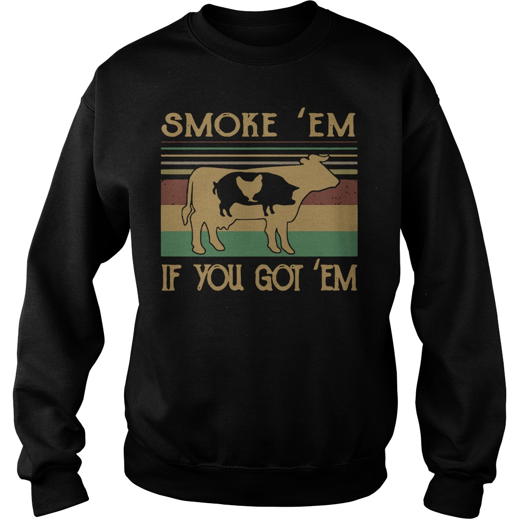 Cow Pig and Chicken smoke em if you got em vintage Sweater