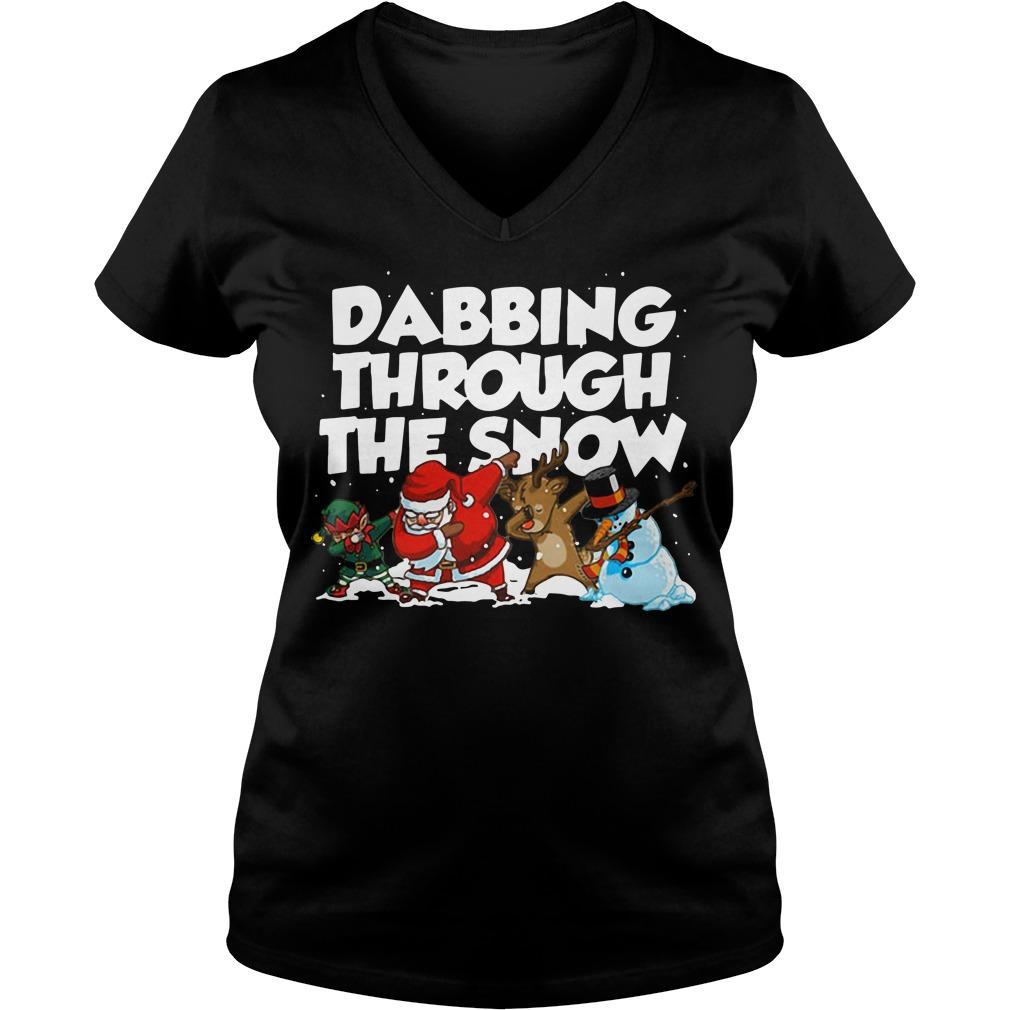 Irish Dabbing Through The Snow V-neck T-shirt