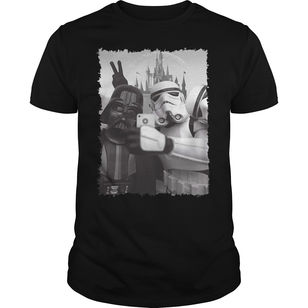 Darth Vader and Stormtrooper Star Wars Selfie Disney Guys Shirt