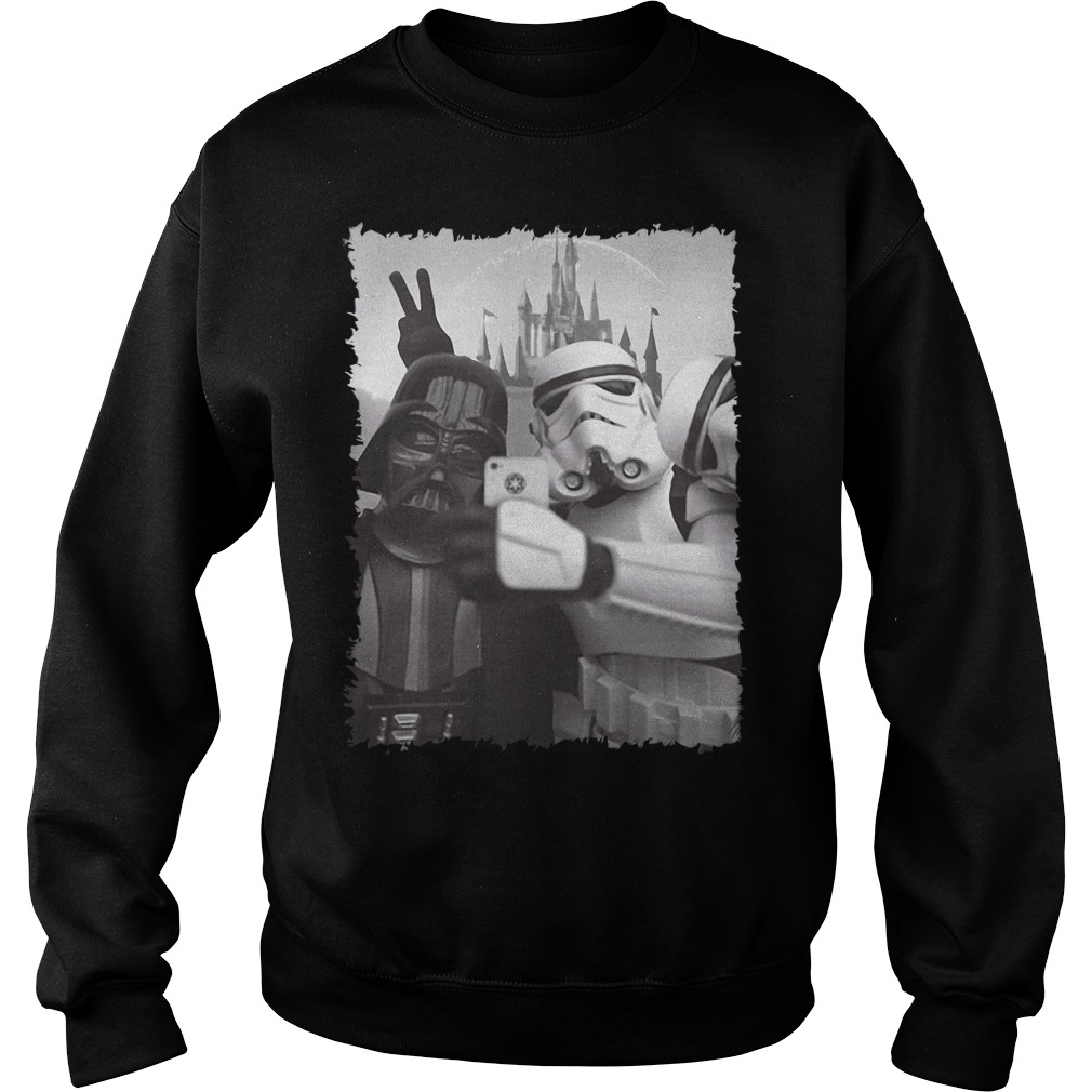 Darth Vader and Stormtrooper Star Wars Selfie Disney Sweater