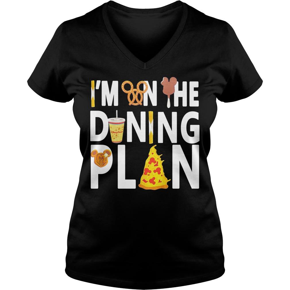 Disney Dining Plan I'm on the dining plan V-neck T-shirt
