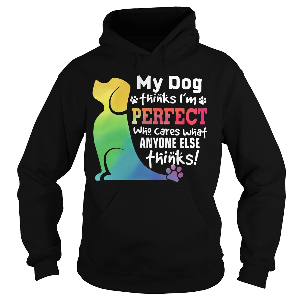 My Dog thinks I'm perfect who cares what anyone else thinks Hoodie