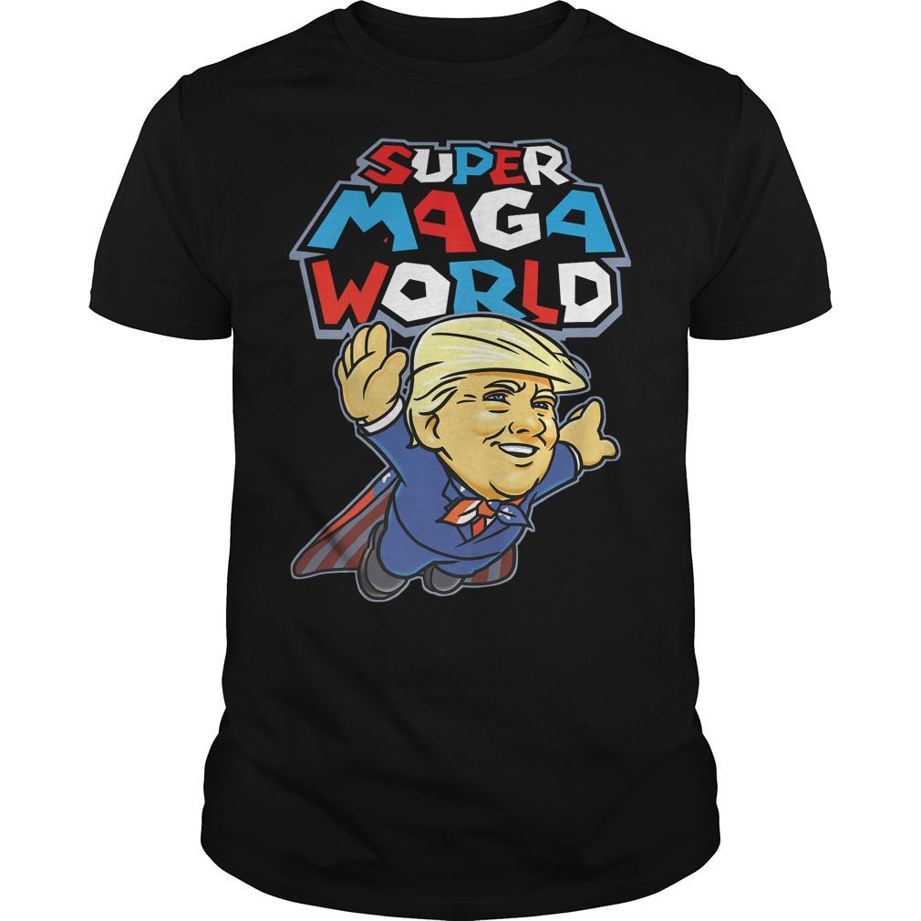 Donald Trump Superman Super Maga world super American AF Guys Shirt