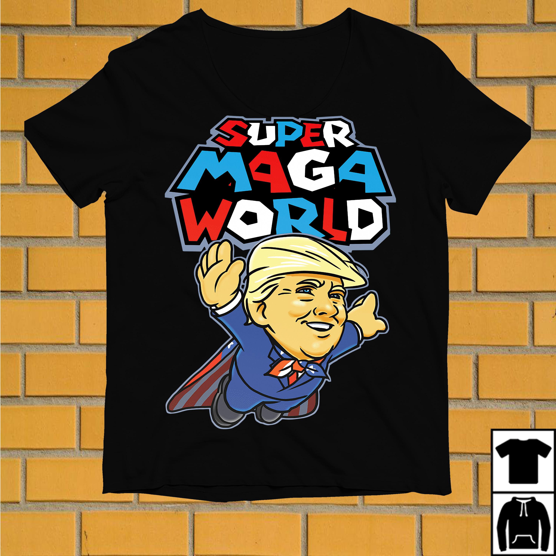 Donald Trump Superman Super Maga world super American AF shirt