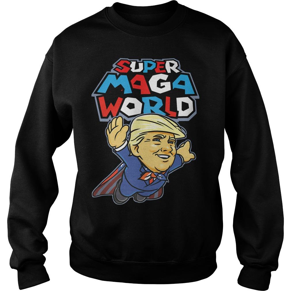 Donald Trump Superman Super Maga world super American AF Sweater