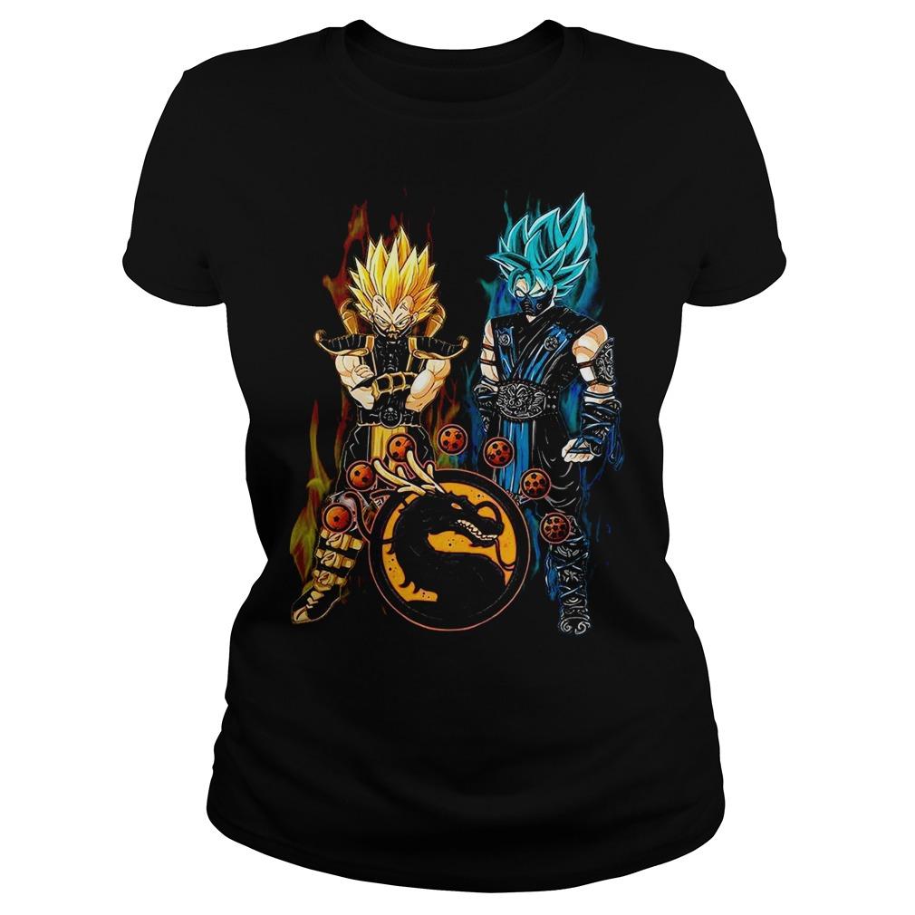 Dragon ball Son Goku and Vegeta Ladies tee