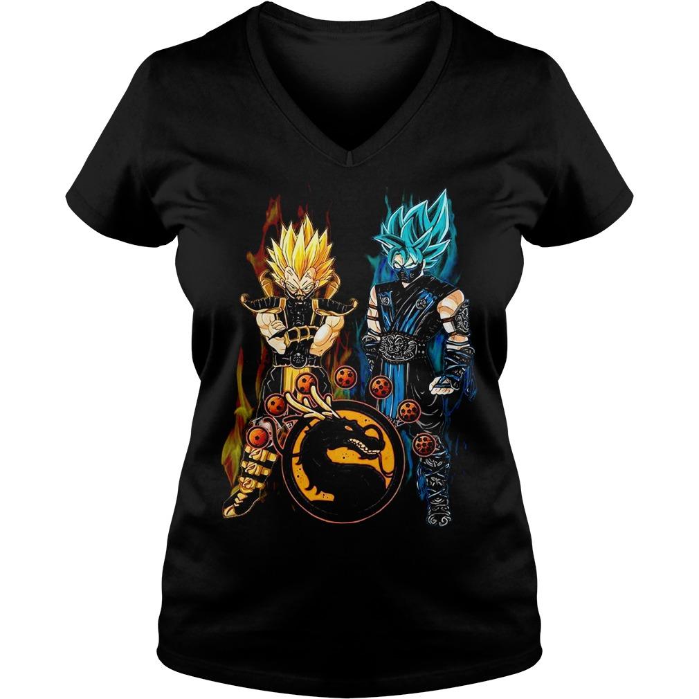 Dragon ball Son Goku and Vegeta V-neck T-shirt