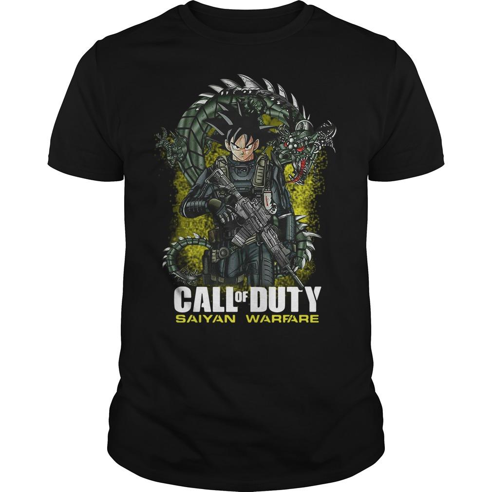 Dragon ball Songoku call of duty saiyan warfare Guys Shirt