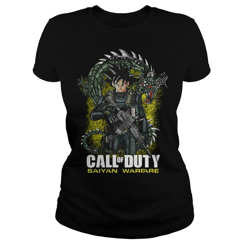 Dragon ball Songoku call of duty saiyan warfare Ladies Tee