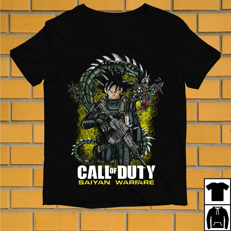 Dragon ball Songoku call of duty saiyan warfare shirt