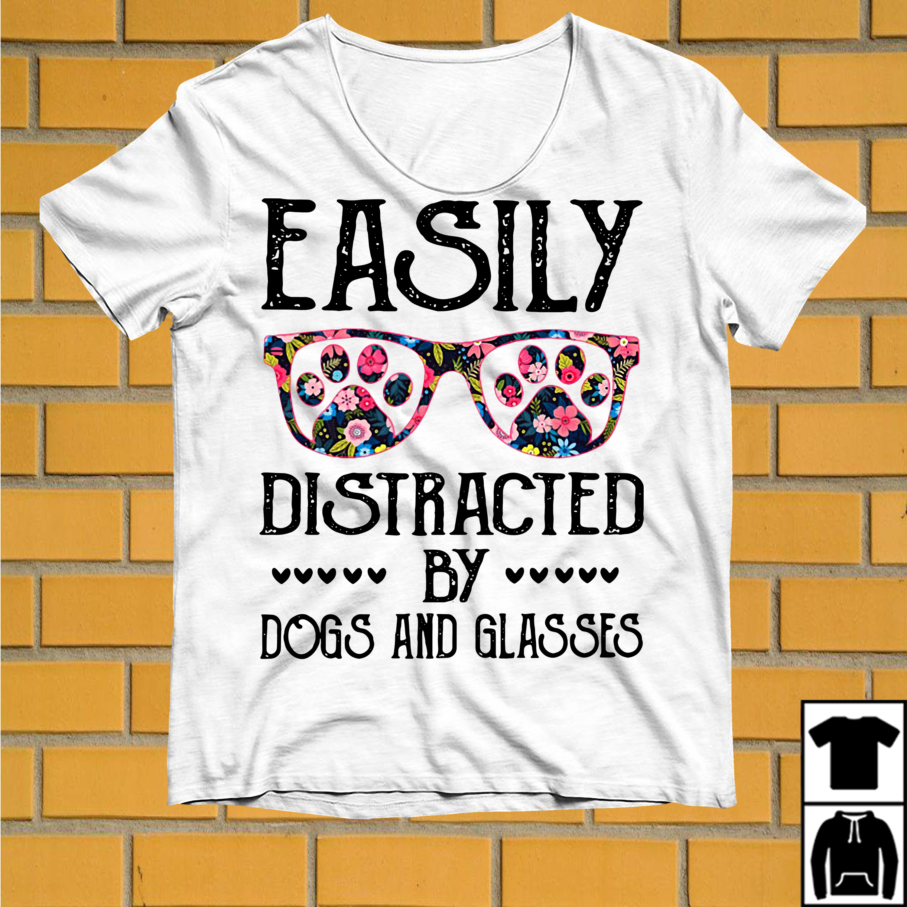 Easily distracted by Dogs and Glasses shirt