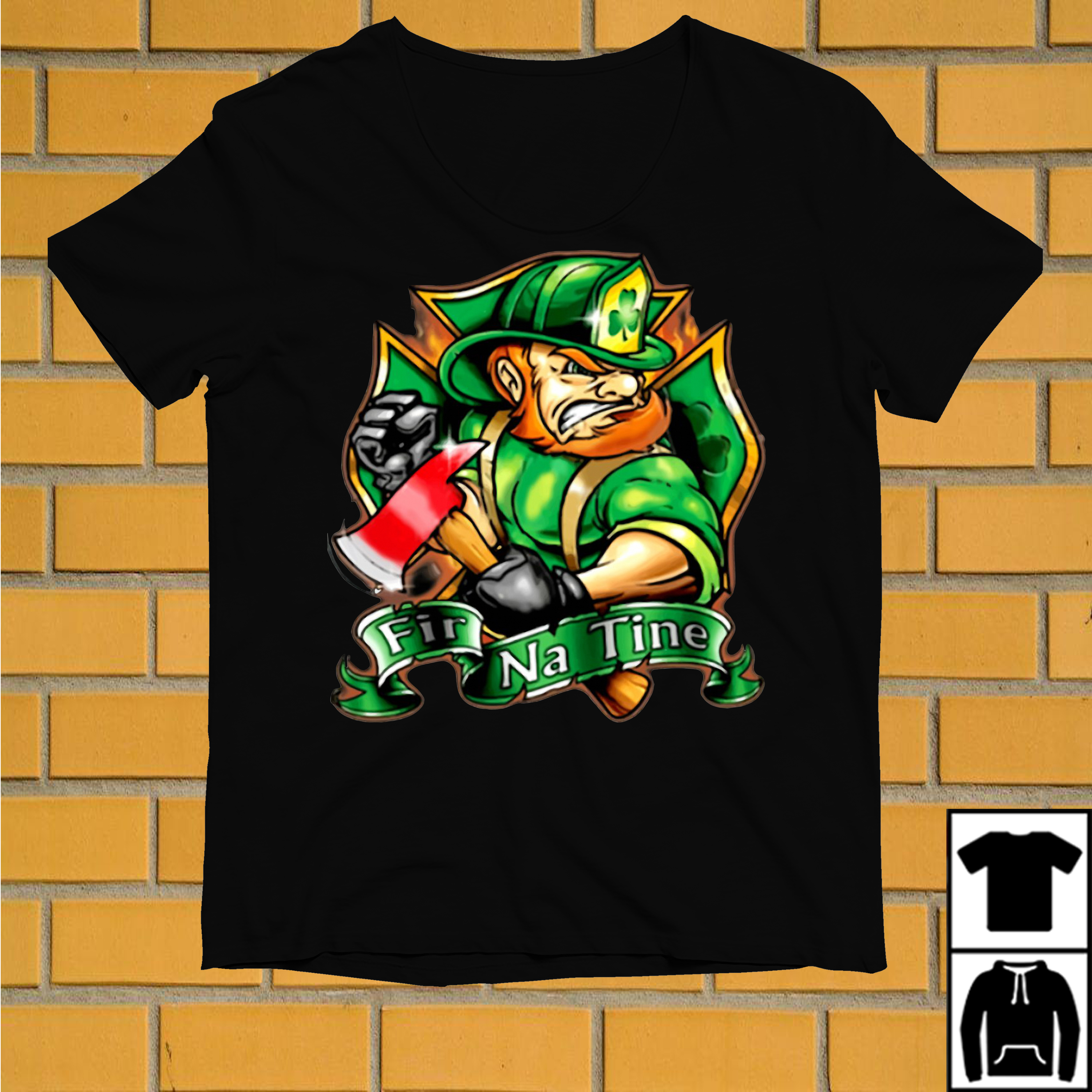 Firefighter Fir Na Tine St. Patrick's day shirt