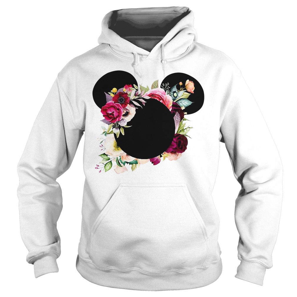 Floral Flower Mickey Mouse Hoodie
