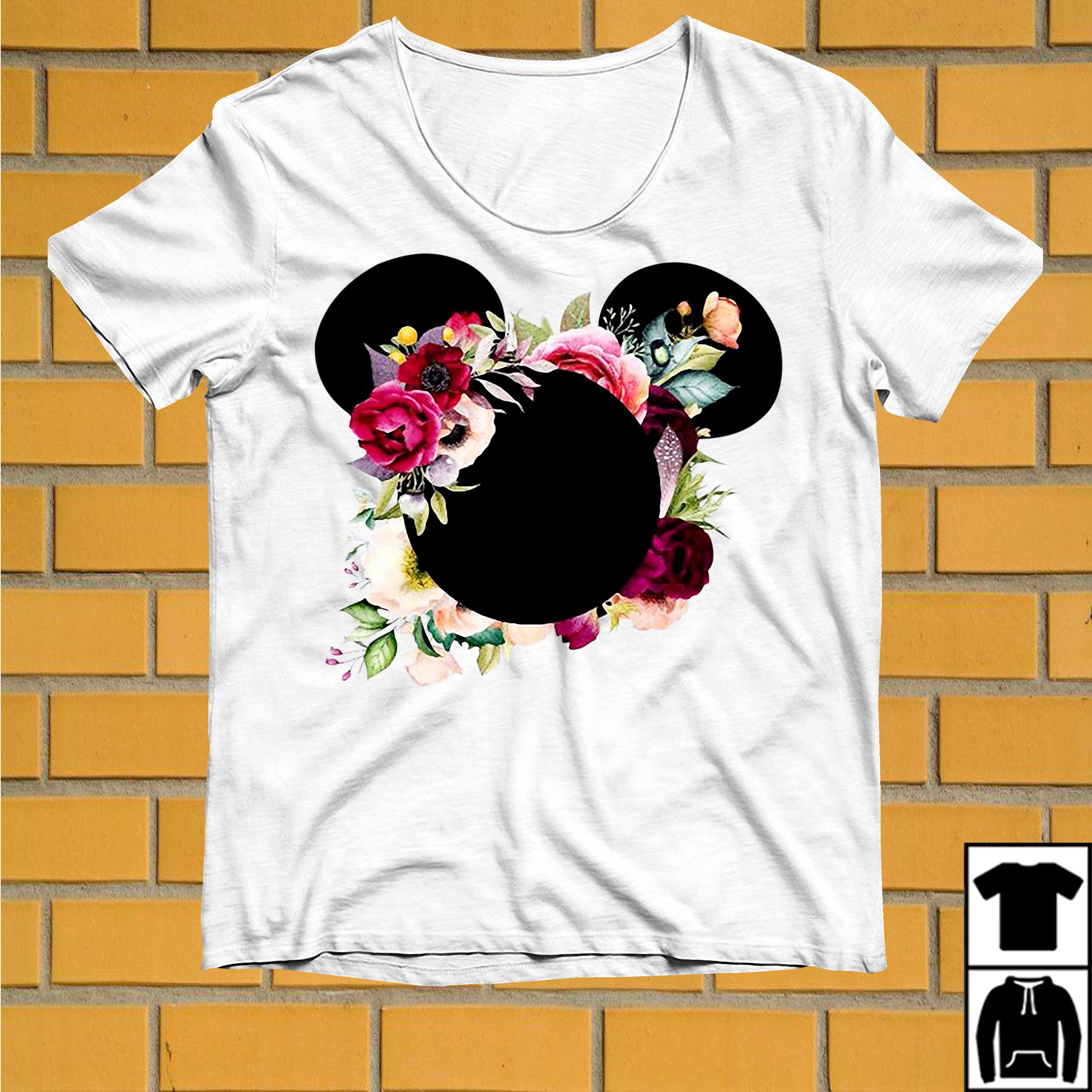 Floral Flower Mickey Mouse shirt