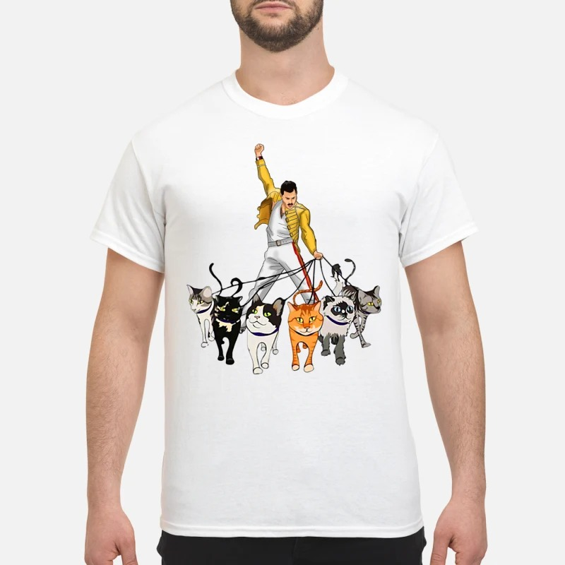 Freddie Mercury with his cats Guys Shirt