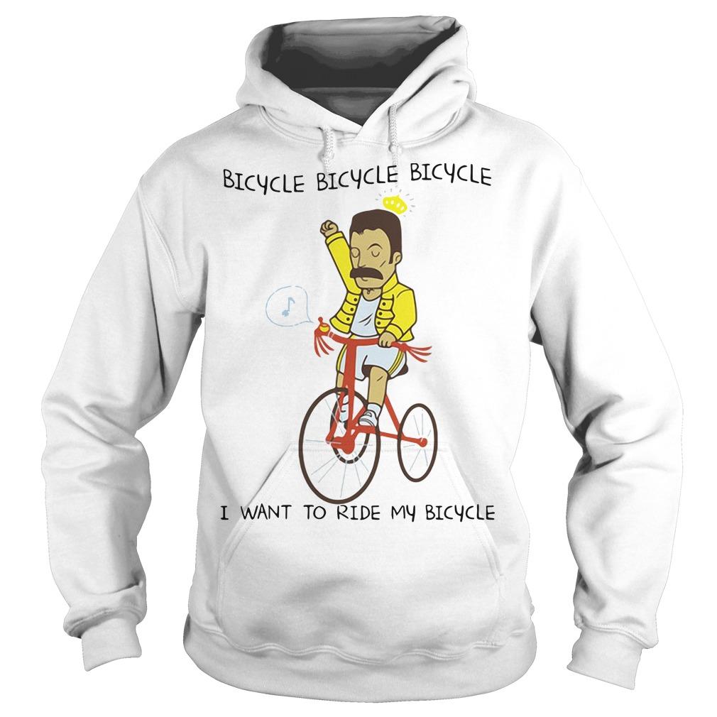 Freddie Mercury I want to ride my bicycle Hoodie