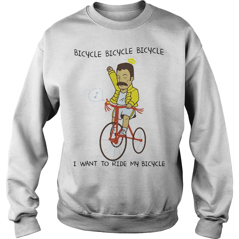 Freddie Mercury I want to ride my bicycle Sweater