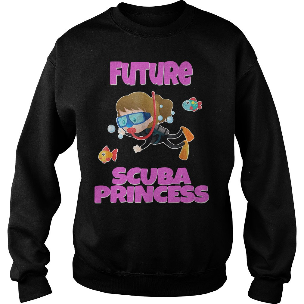 Future scuba princess snorkeling Sweater