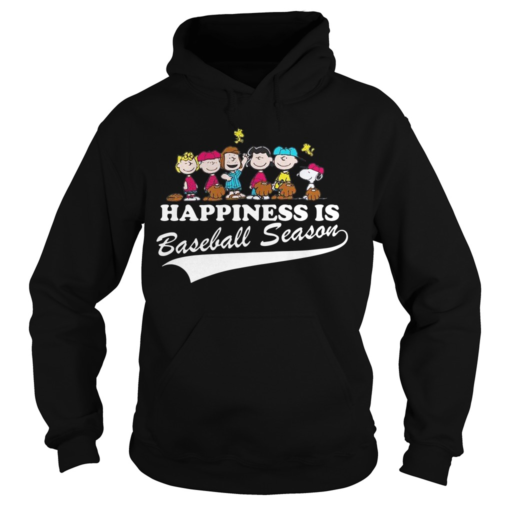 Snoopy and woodstock Happiness is baseball season Hoodie