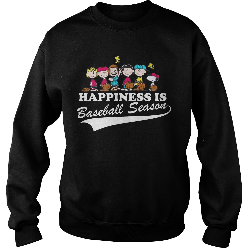 Snoopy and woodstock Happiness is baseball season Sweater