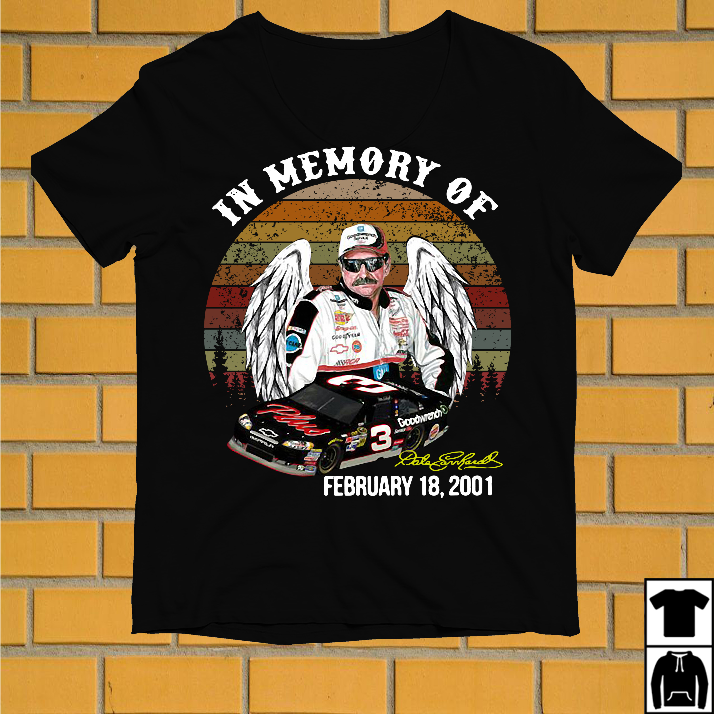 Dale Earnhardt In memory of February 18 2001 vintage shirt