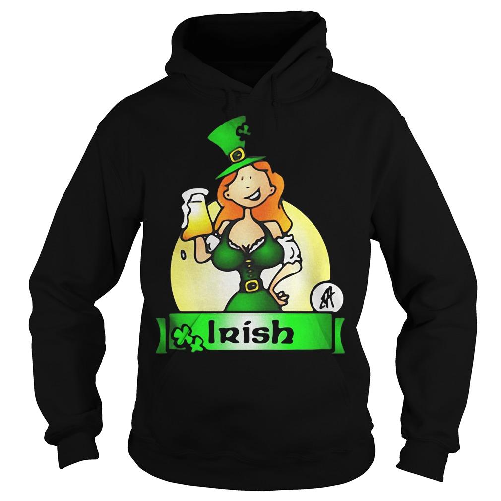 Irish lady drink beer Hoodie