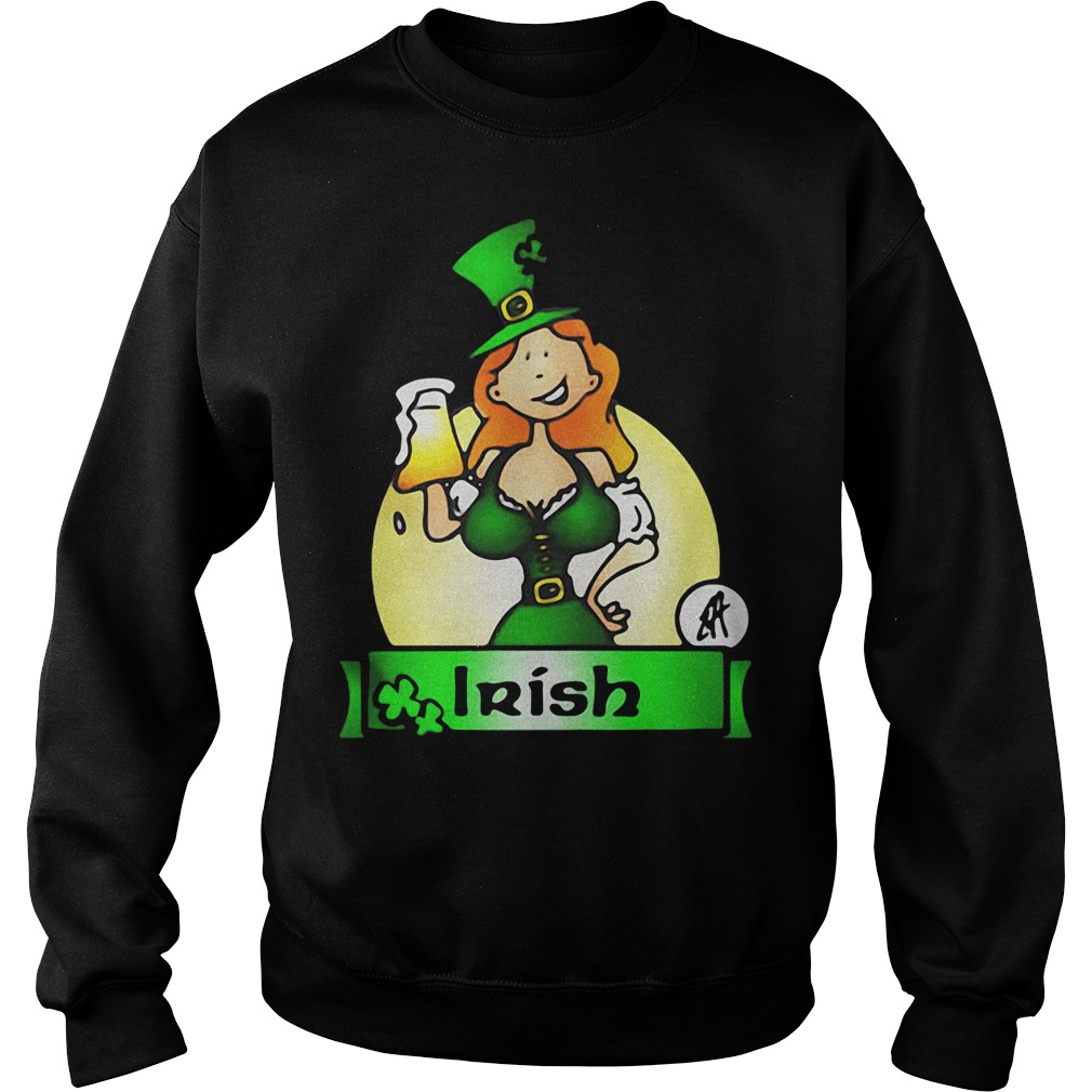 Irish lady drink beer Sweater