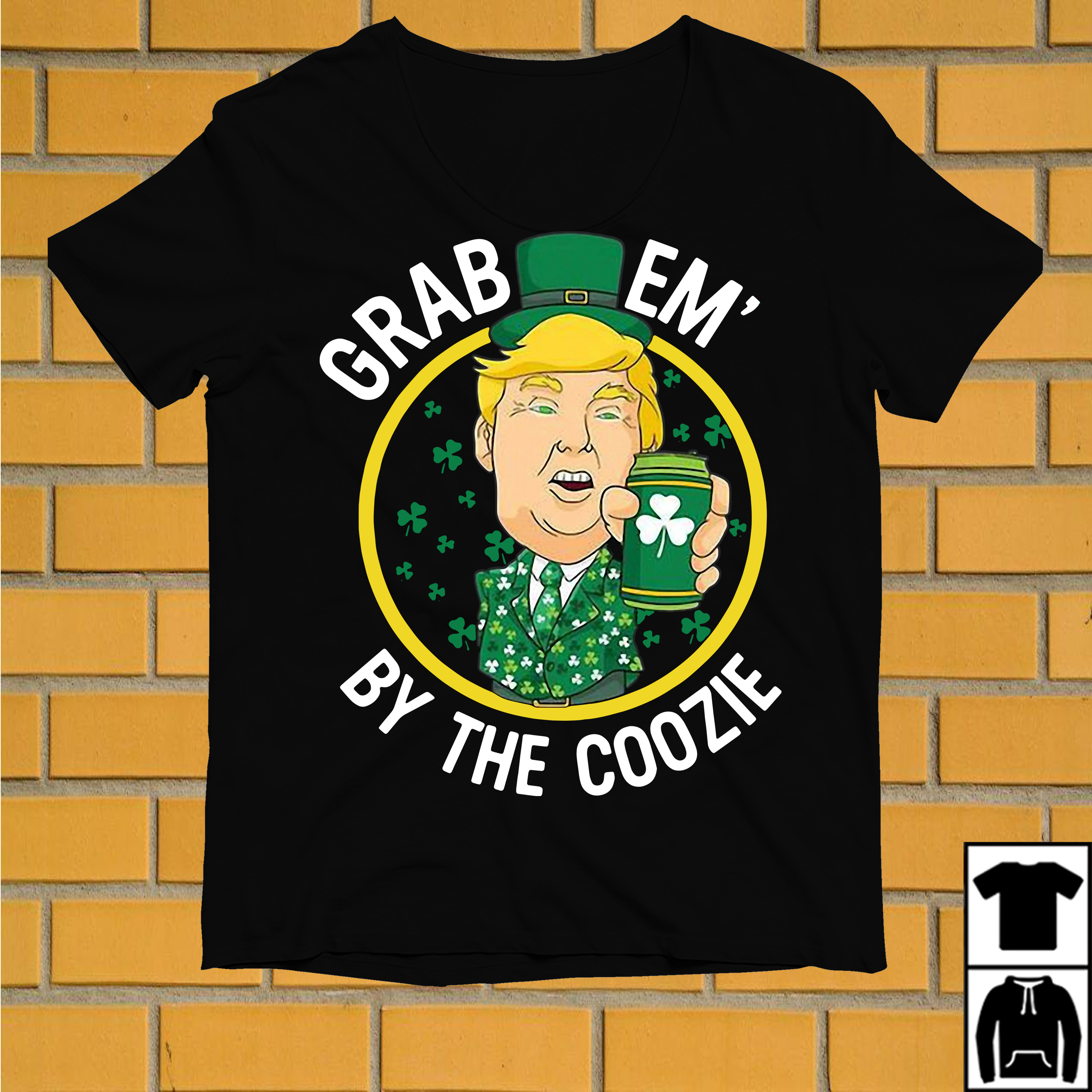 Irish Trump Beer grab em' by the coozie shirt