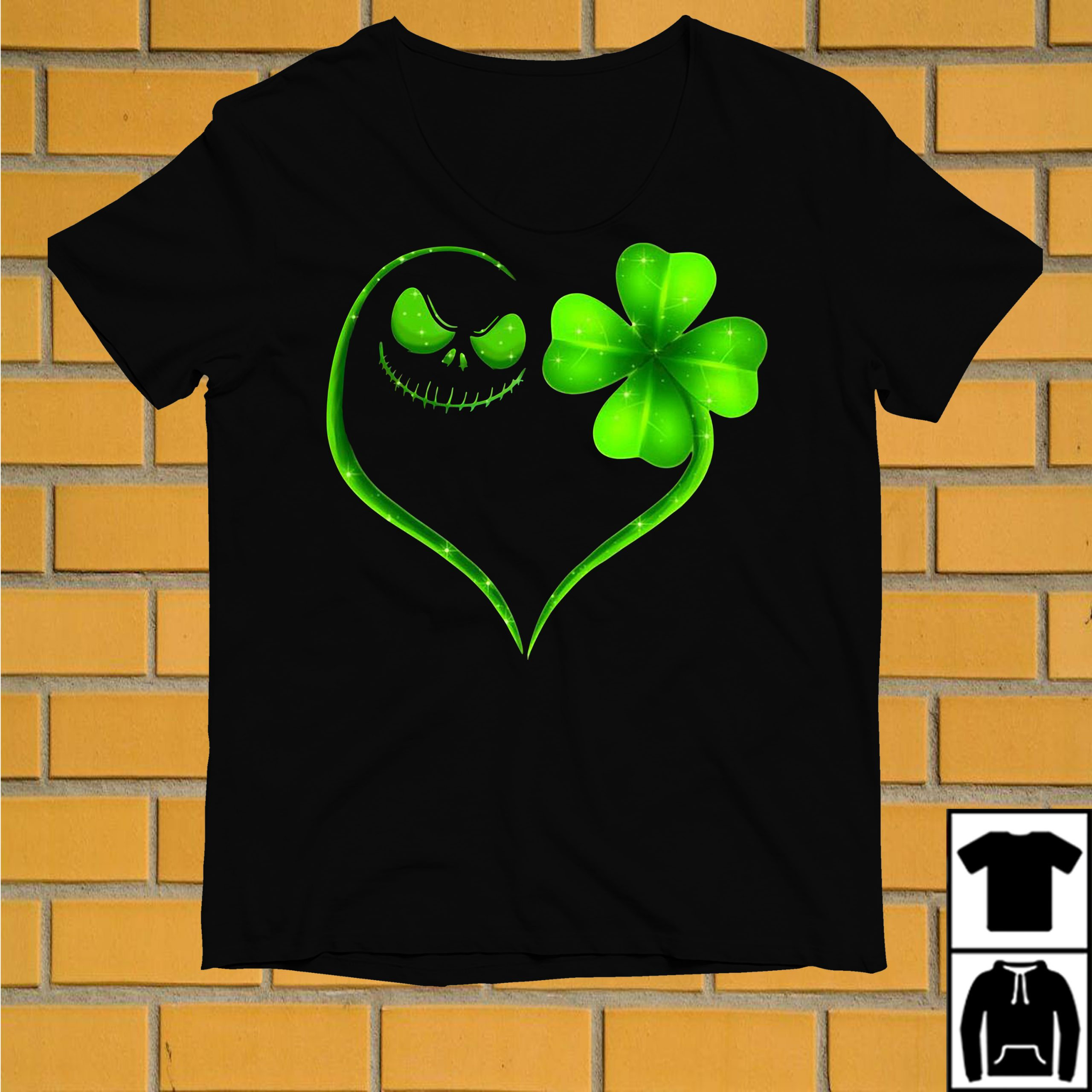 Jack Skellington and Shamrock love St Patrick's day shirt
