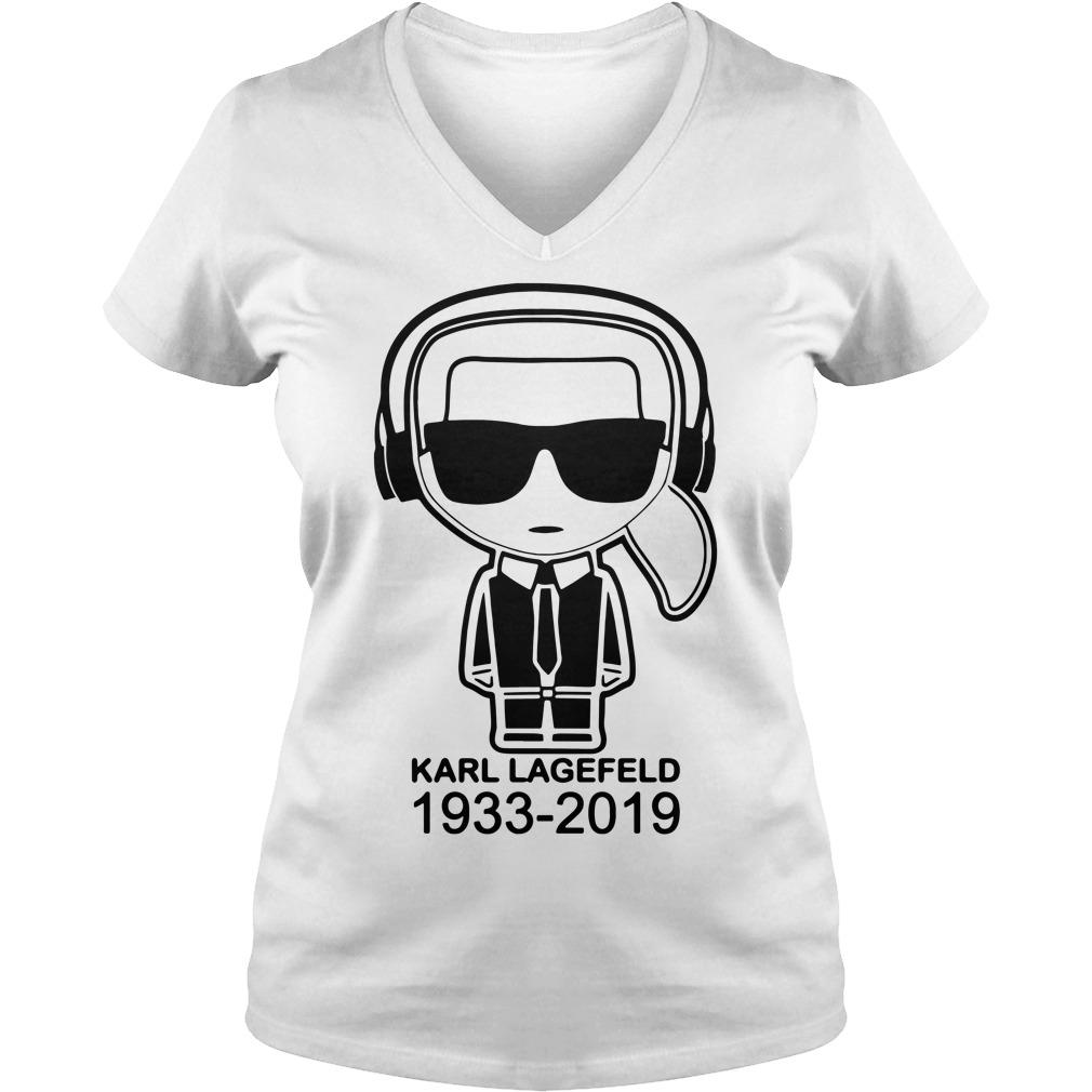 Karl Lagerfeld 1933 2019 V-neck T-shirt