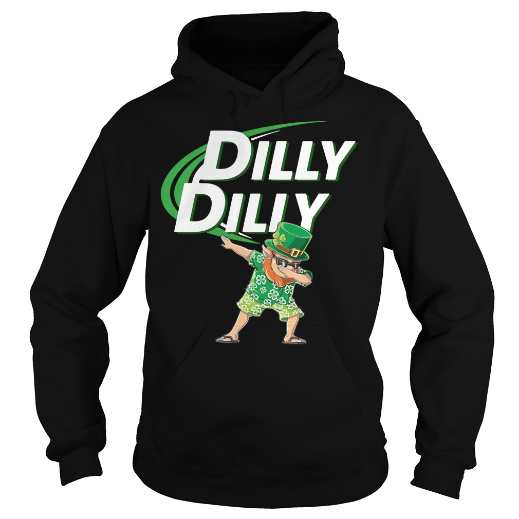 Leprechaun dabbing dilly dilly Hoodie
