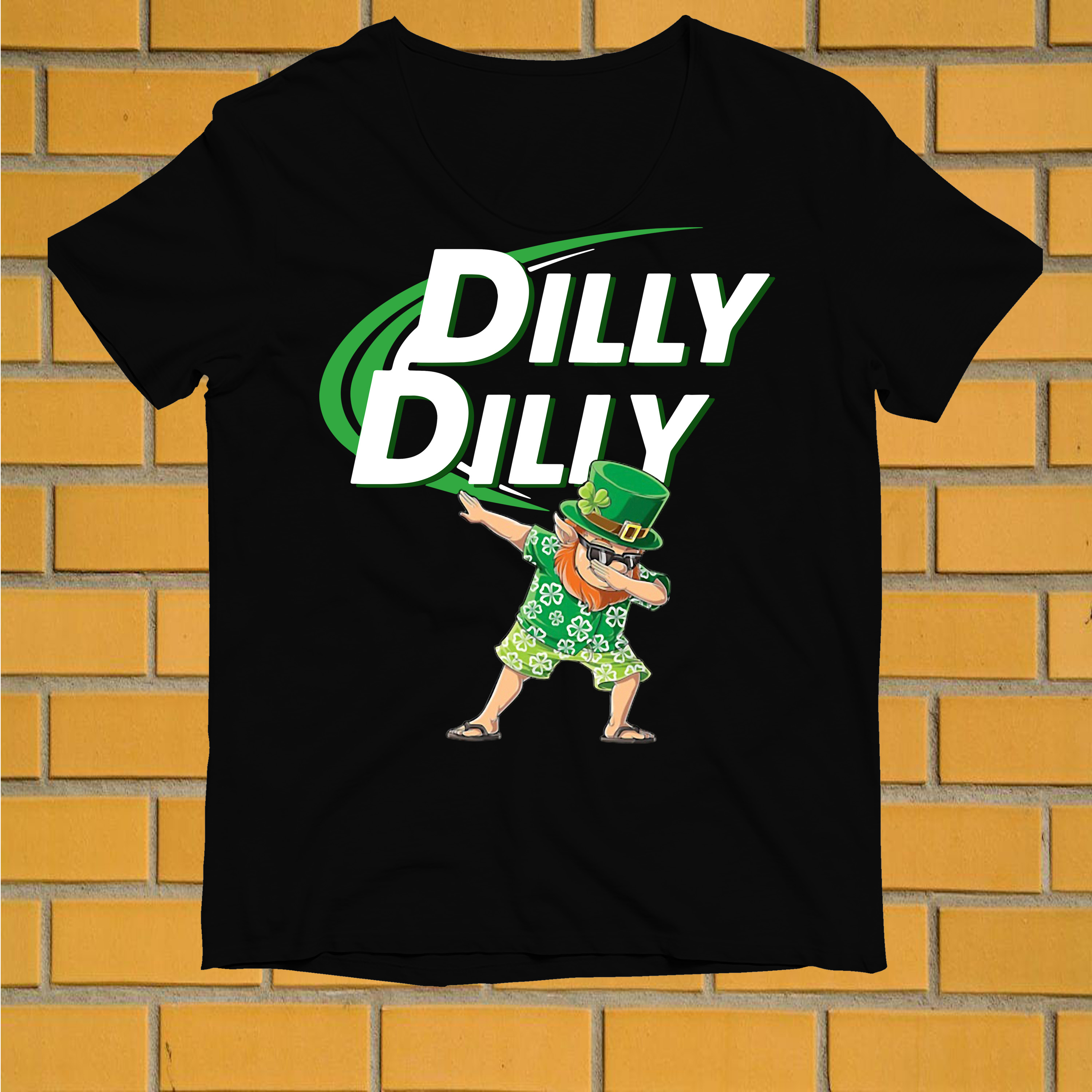 Leprechaun dabbing dilly dilly shirt