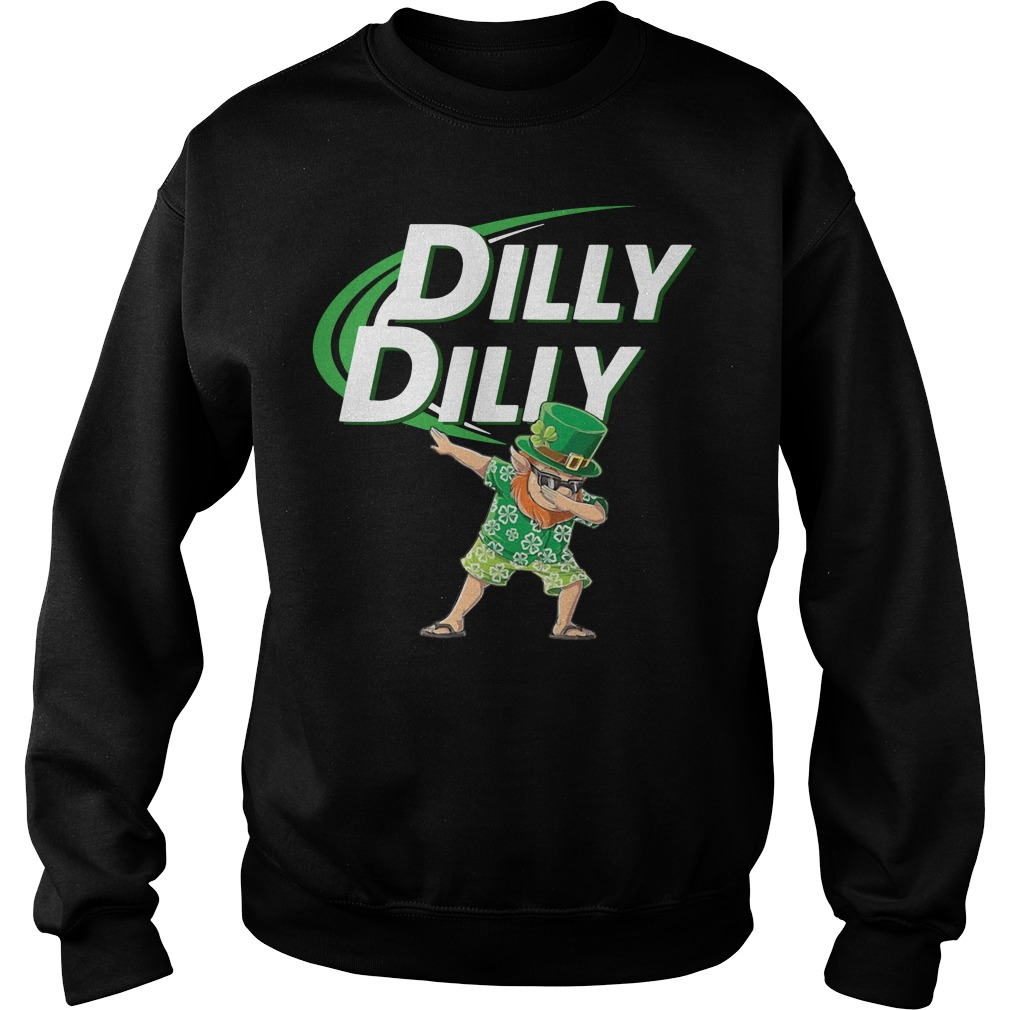 Leprechaun dabbing dilly dilly Sweater