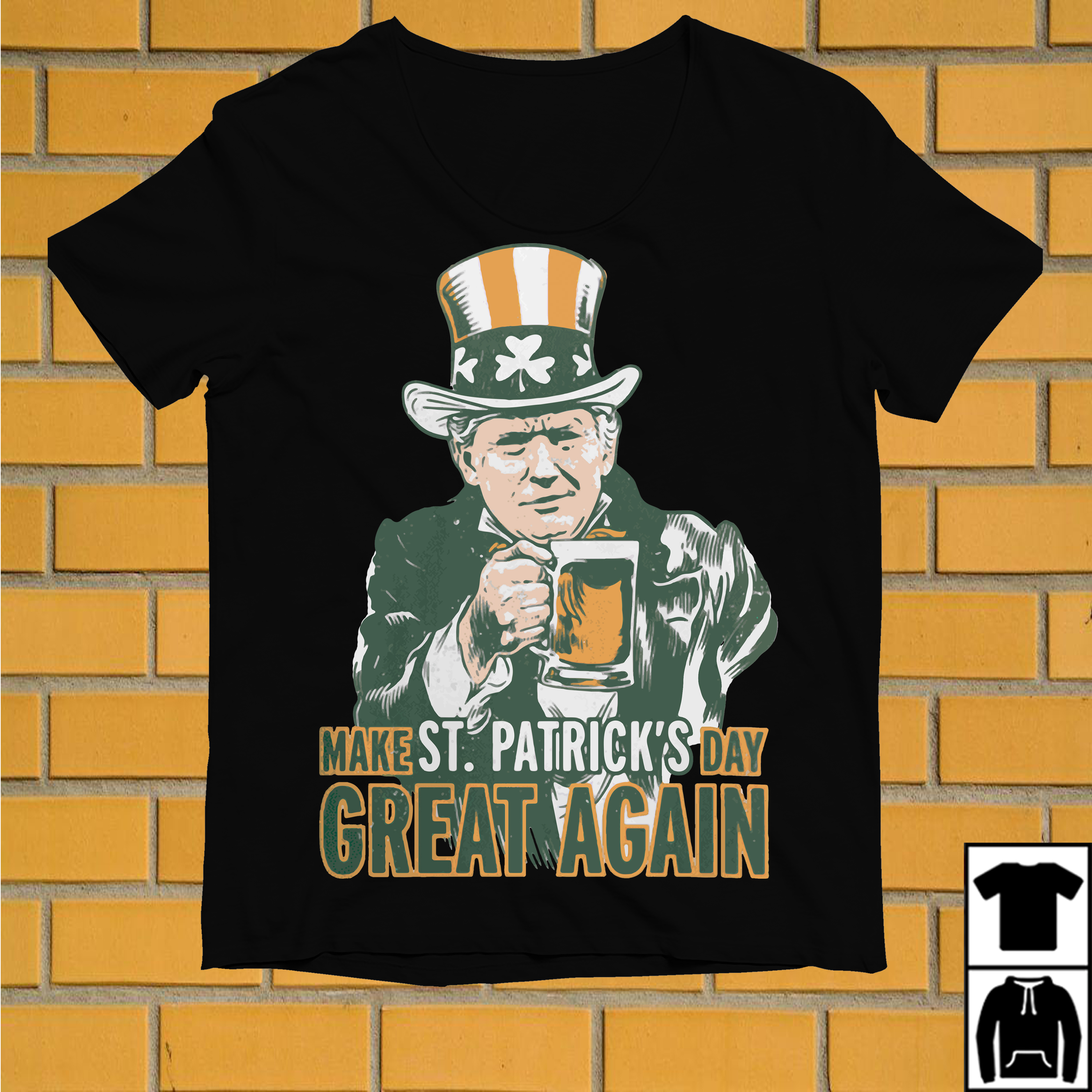 Leprechaun make St Patrick's day great again shirt
