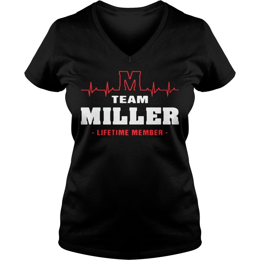 M team miller lifetime member V-neck T-shirt